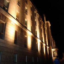 Photo en soirée du Collège de Champigny